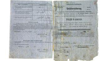 La première police d'assurance conclue auprès de la Winterthur