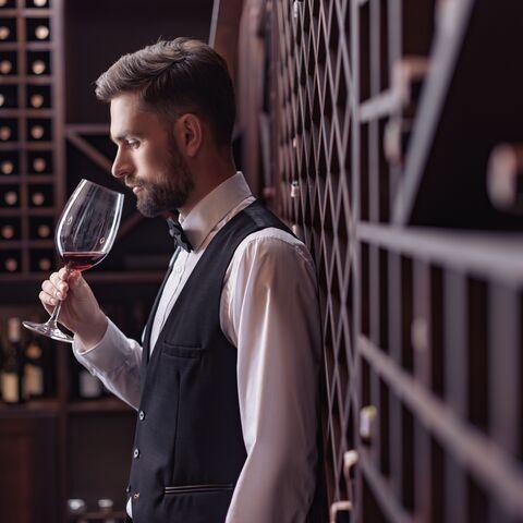 Bouteilles de vin cassées