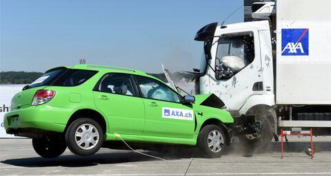 Vidéos des anciens crash tests de la Recherche accidentologique d'AXA