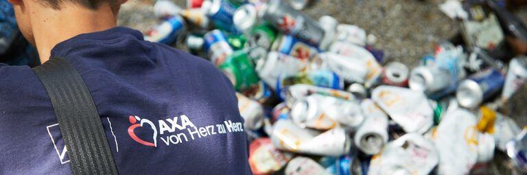 Über 210 Kg Abfall wurde am Sihlufer gesammelt.