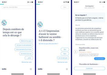 Screenshot dell'app Ada